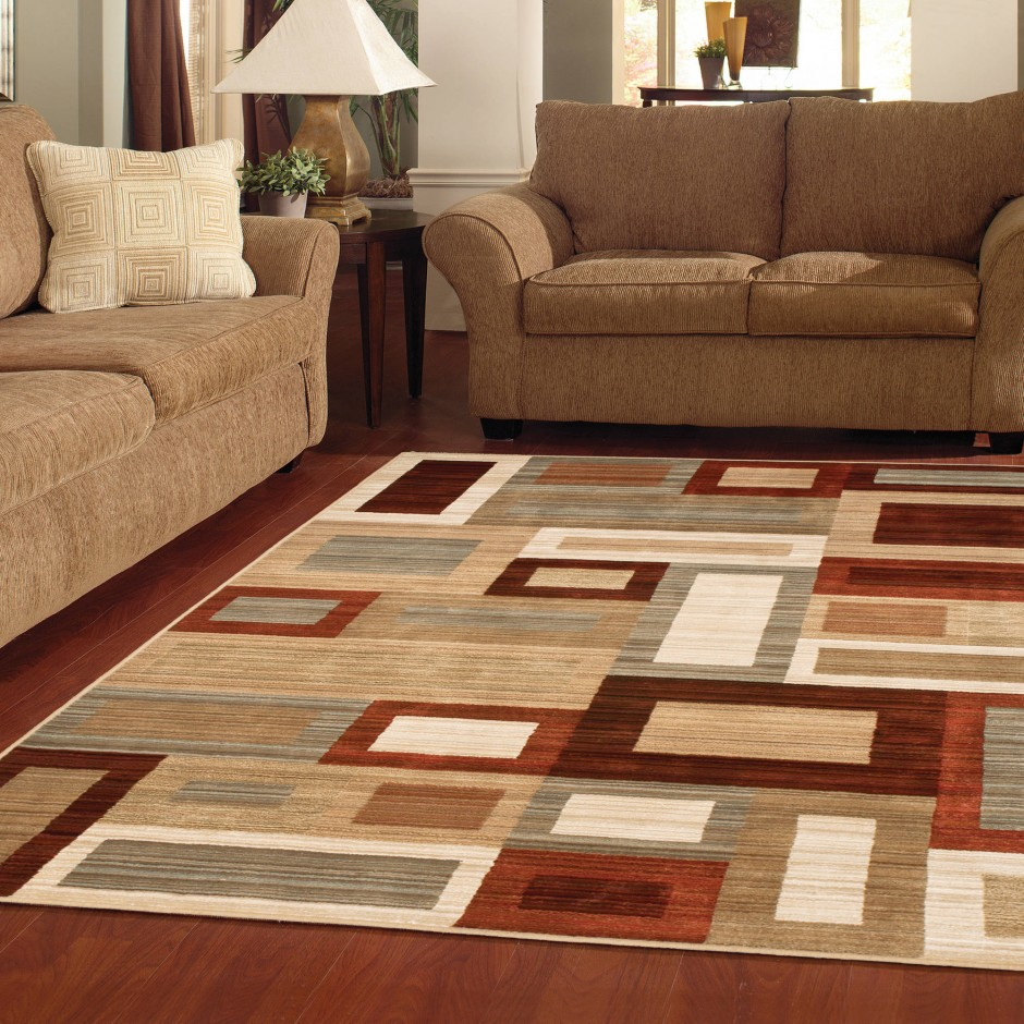 7x7 Square Rug | Brown Area Rug | Square Rugs 7x7