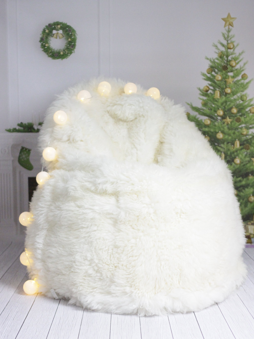 Bean Bag Fur | Sheepskin Beanbag | Large Bean Bag Pillow