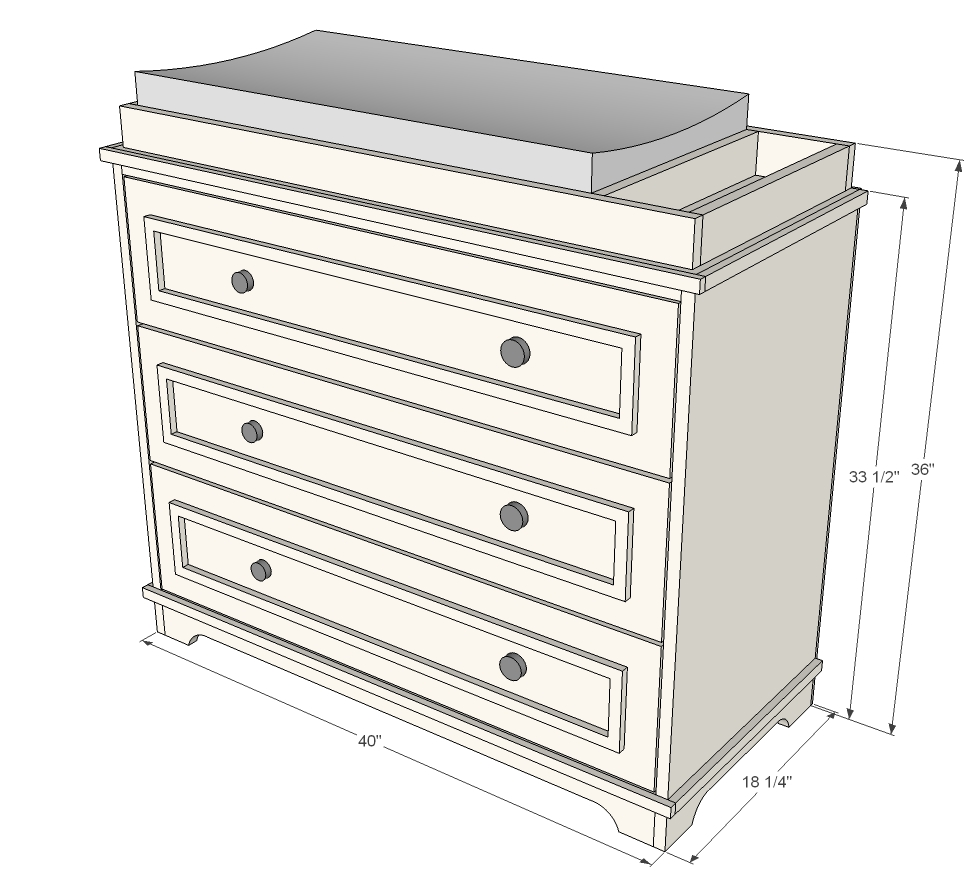 Child Craft Dresser Changing Table | Changing Table Dresser | Dresser with Changing Table Topper