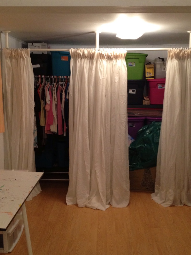 Closet Tension Rod | Tension Rod Room Divider | Storage Room Dividers