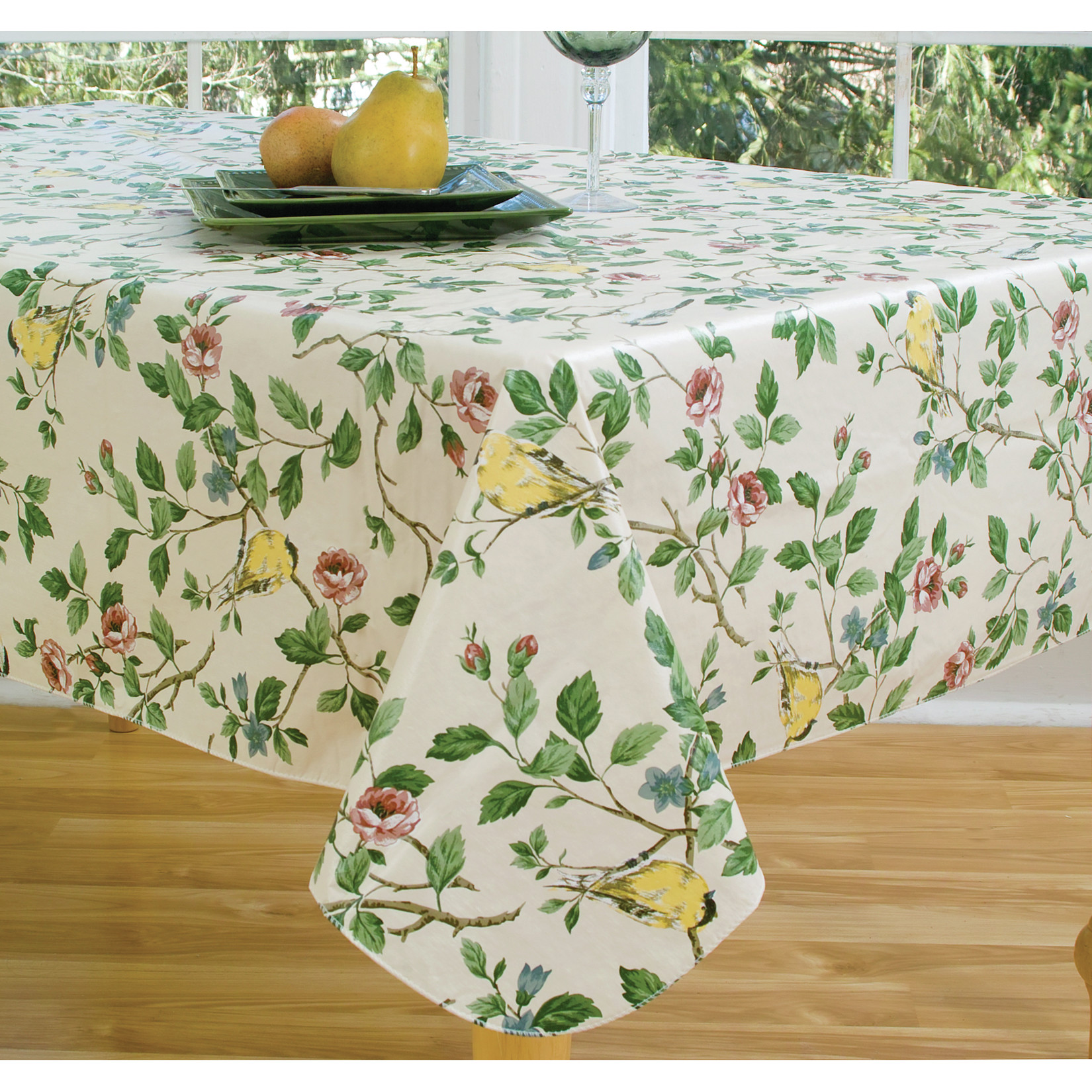 Coffee Table Cloth | Vinyl Tablecloths | Spring Tablecloths