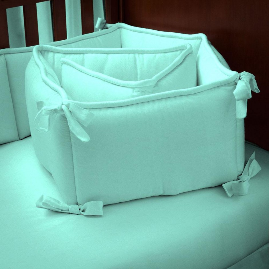 Coral And Navy Crib Bedding   Crib Bumpers   Breathable Mesh Bumper