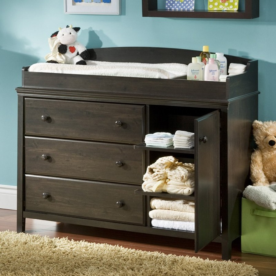 Crib and Changing Table | Changing Table Dresser | Espresso Dresser Changing Table