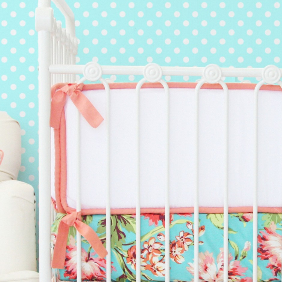 Crib Bumpers | Safe Crib Bumpers | Hot Pink Crib Bumper