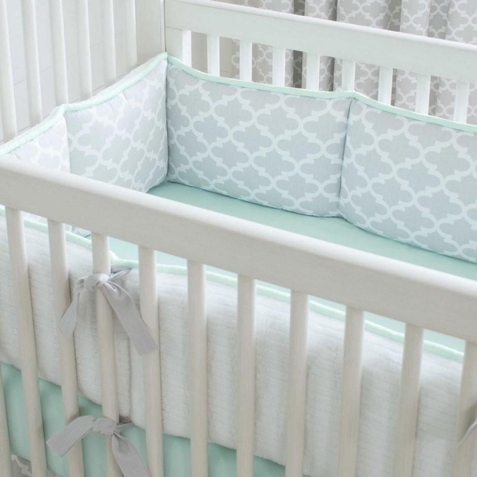 Crib Padding | Brown Crib Bumper | Crib Bumpers