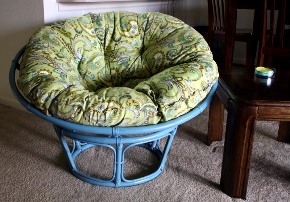 Cushion For Papasan Chair | Orange Papasan Cushion | Papasan Cushion