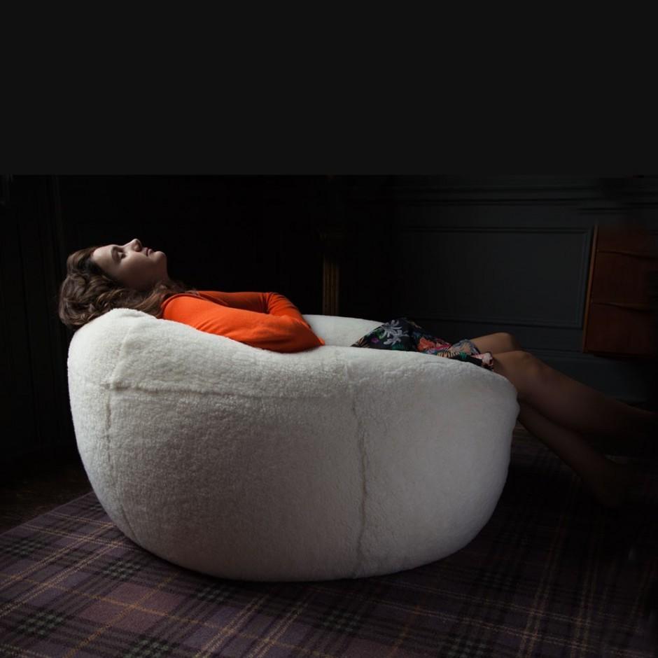 Double Bean Bag Chair   Outdoor Beanbags   Sheepskin Beanbag