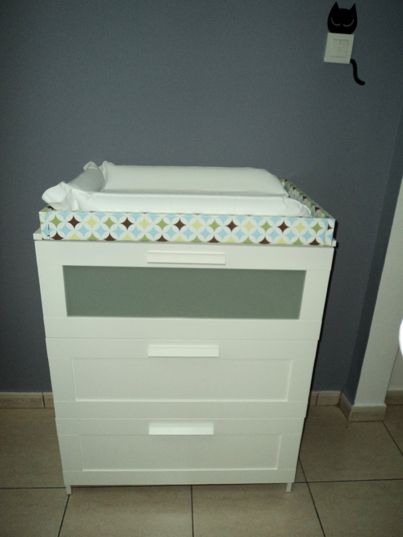 Double Dresser Changing Table | Dresser Bookshelf Combo | Changing Table  Dresser