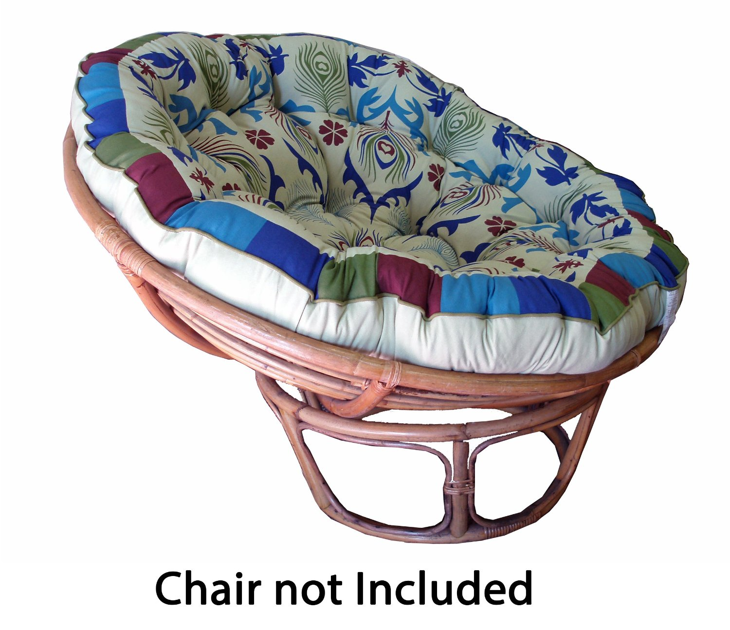 Double Papasan Cushions | Large Papasan Chair | Papasan Cushion