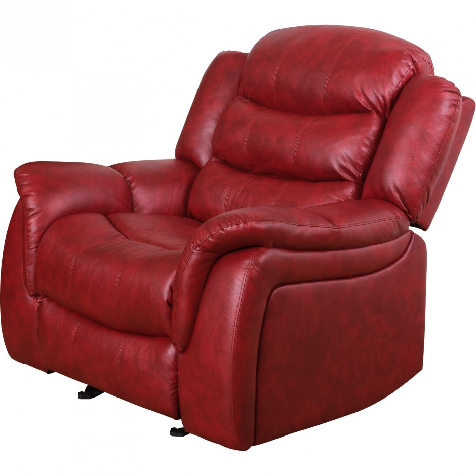 Fabric Glider Recliner With Ottoman | Gliders And Rockers | Glider Recliner