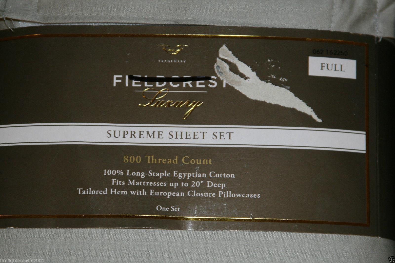 Fieldcrest 800 Thread Count Sheets | Fieldcrest Luxury Sheets | Field Crest Sheets
