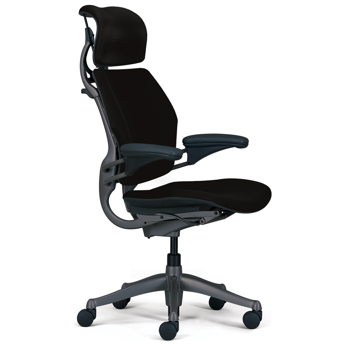 Freedom Humanscale Chair | Leather Headrest | Humanscale Freedom Chair