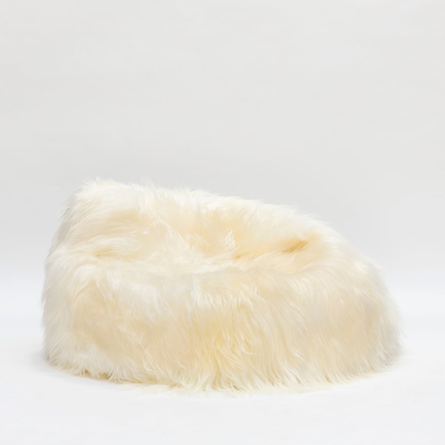 Furry Bean Bag | Sheepskin Beanbag | Human Bean Bag