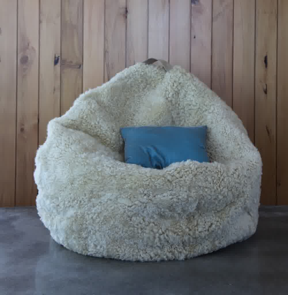 Giant Bean Bag Beds | Sheepskin Beanbag | Large Bean Bag Pillow