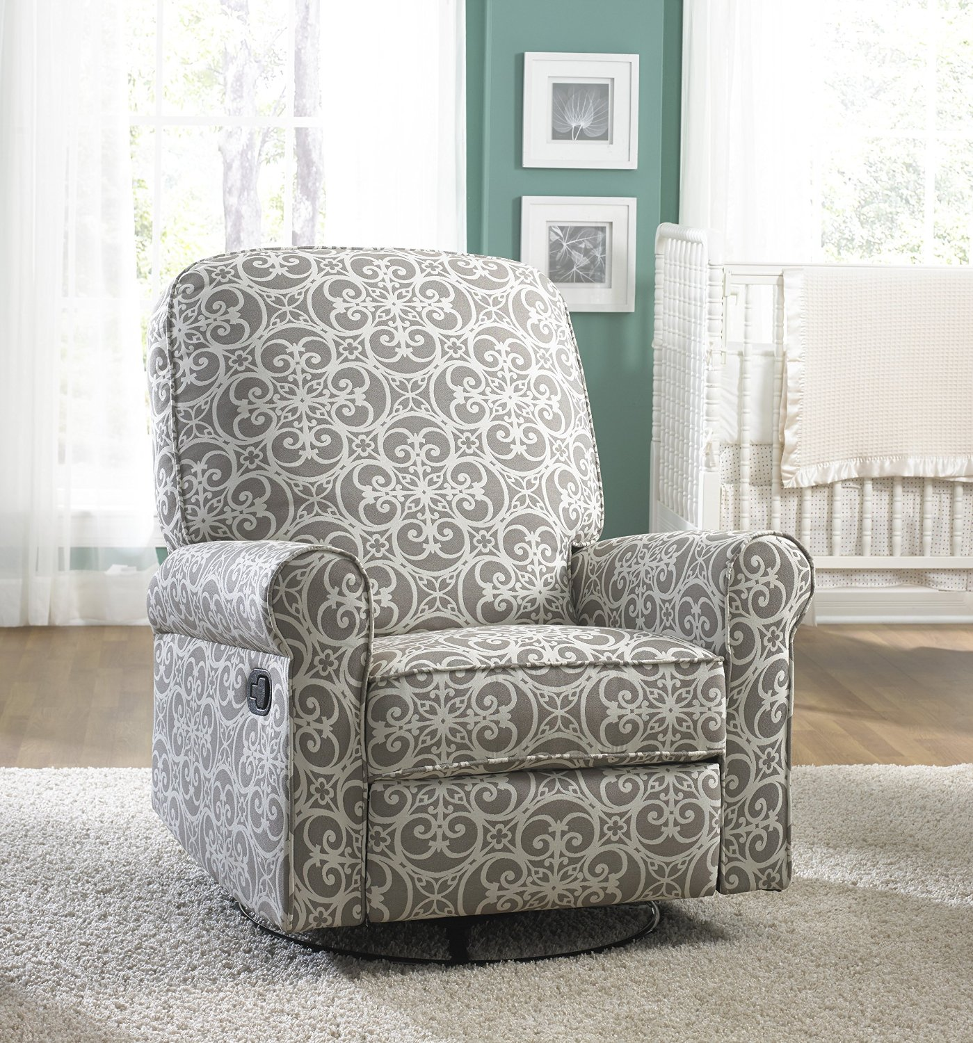Glider Recliner | Reclining Swivel Glider | Glider Rocker Recliner with Ottoman