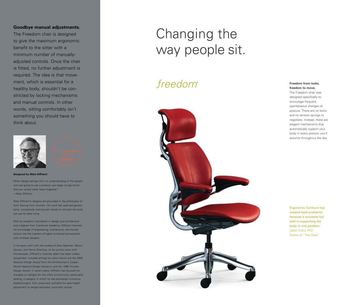 Humanscale Freedom | Ergonomic Chair Headrest | Humanscale Freedom Chair