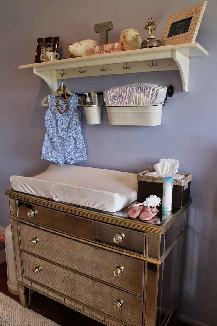 Land of Nod Crib | Baby Changer Table | Changing Table Dresser