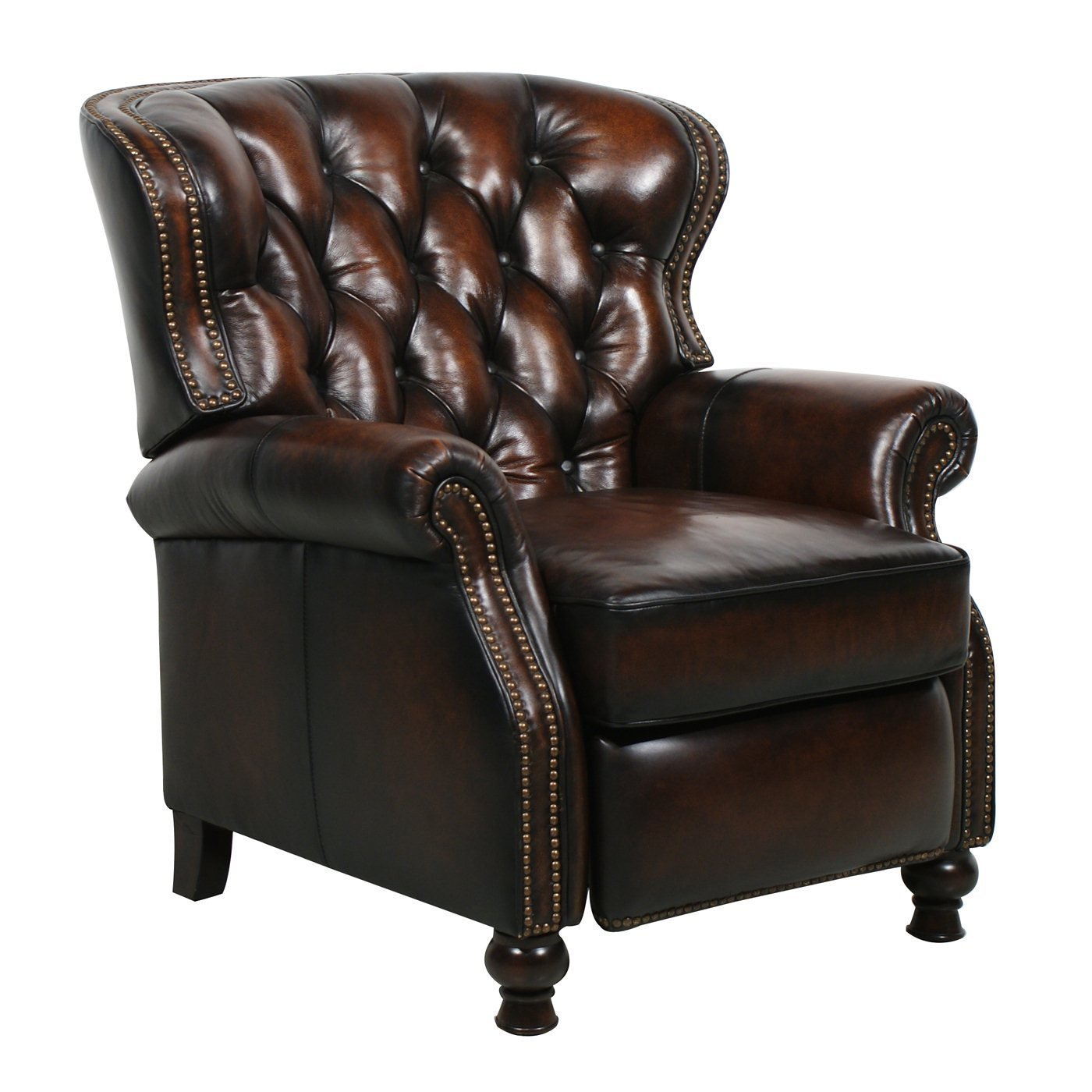 Furniture & Rug Leather Recliner With Massage
