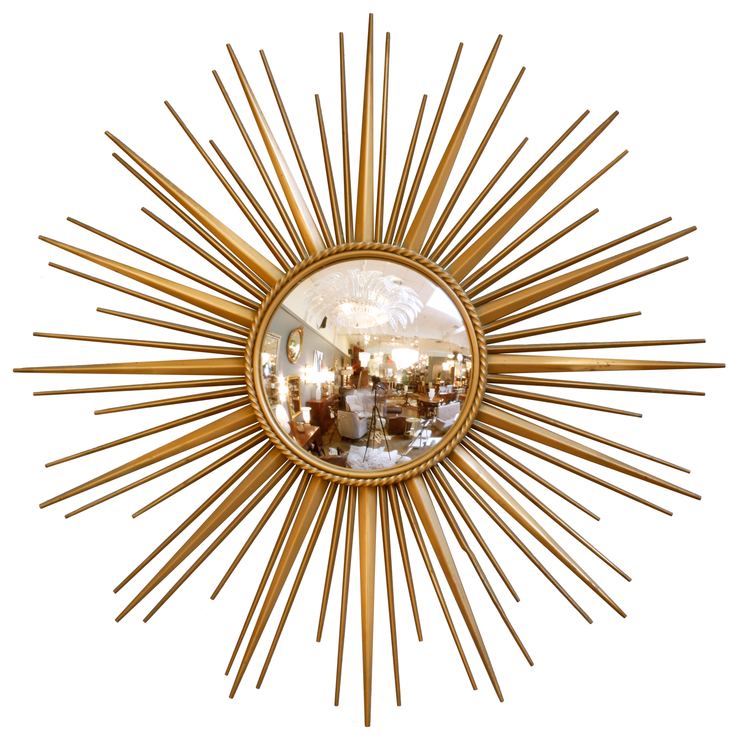 Martha Stewart Draperies | Martha Stewart Sunburst Mirror | Antique Gold Sunburst Mirror