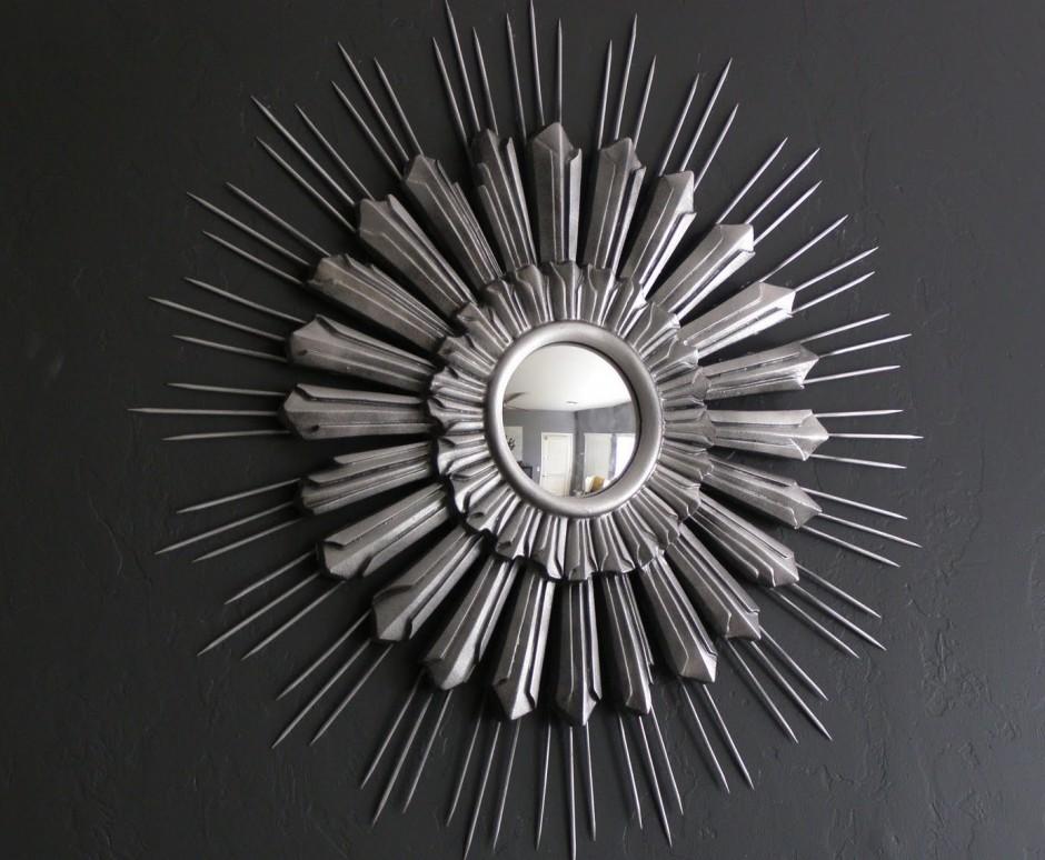 Martha Stewart Sunburst Mirror | Martha Stewart Cafe Curtains | Sunburst Gold Mirror