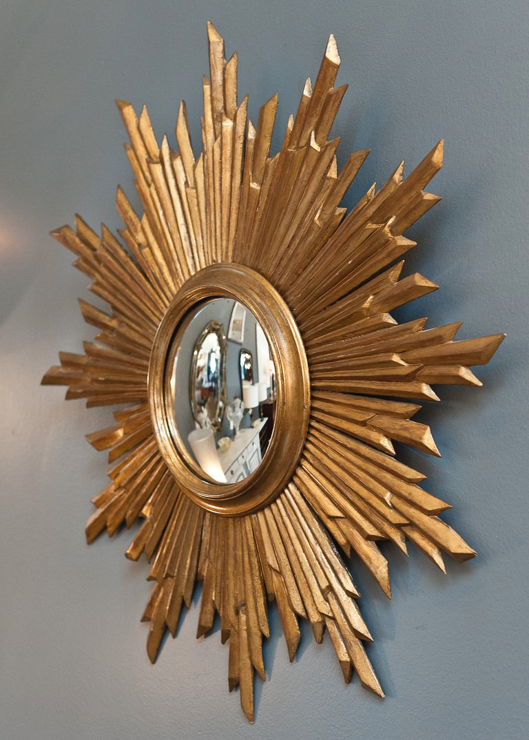 Martha Stewart Sunburst Mirror | Martha Stewart Drapes | Martha Stewart Living Room