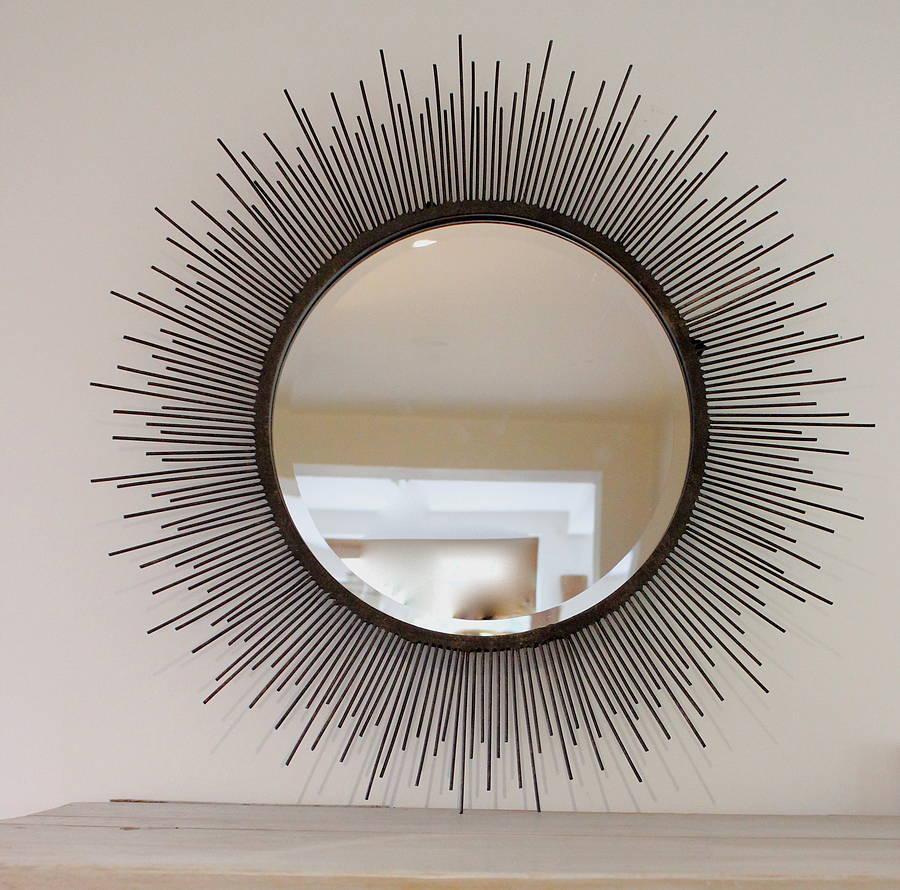 Martha Stewart Sunburst Mirror | Silver Sunburst Mirror | Sunburst Mirror Silver