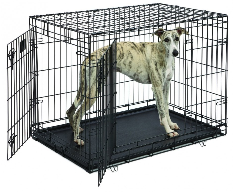 Midwest Dog Crates | Midwest Select Triple Door Dog Crate | Top Paw Dog Crate
