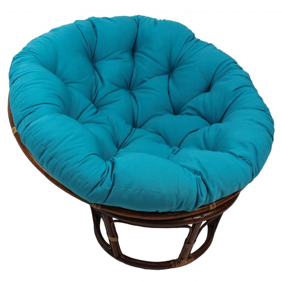 Papasan Cushion | Papazan Chair | Gray Papasan Cushion