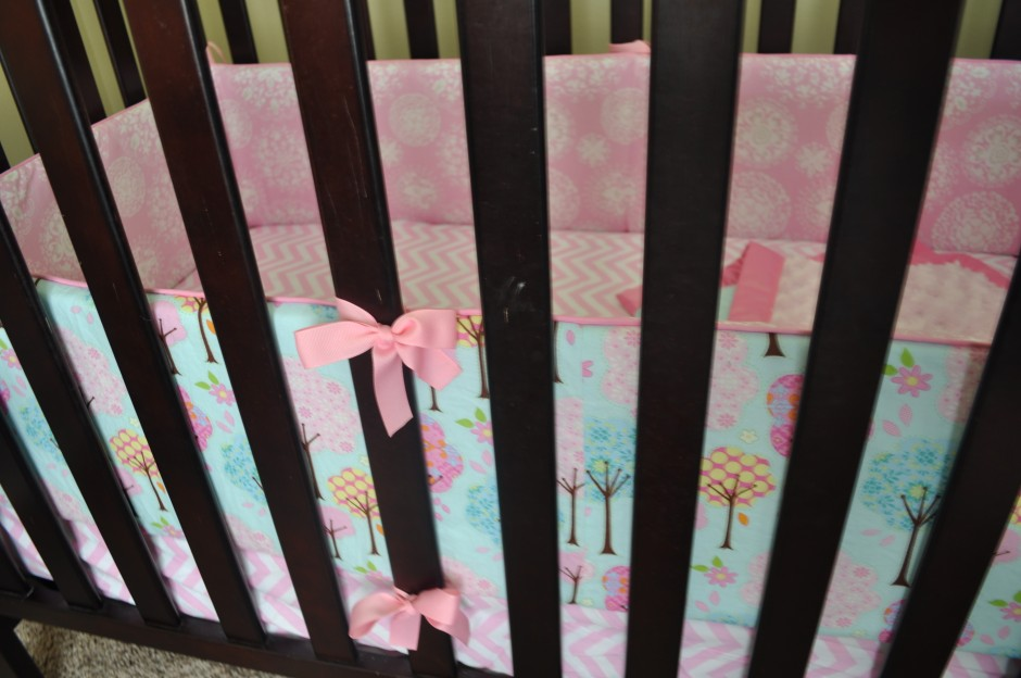 Pink Crib Bumper | Crib Bumpers | Crib Bumper Safety
