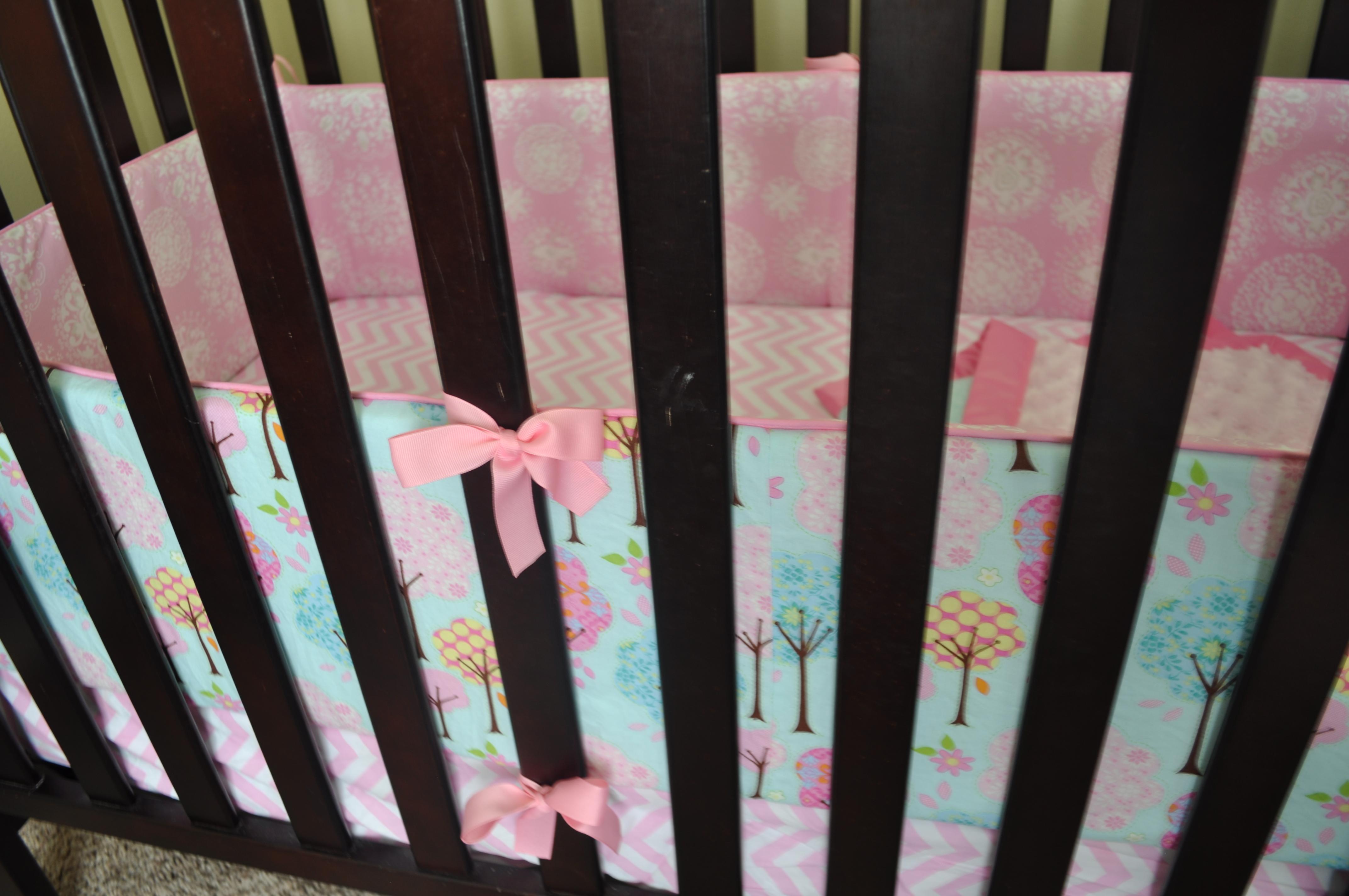 Pink Crib Bumper | Crib Bumpers | Crib Bumper Safety