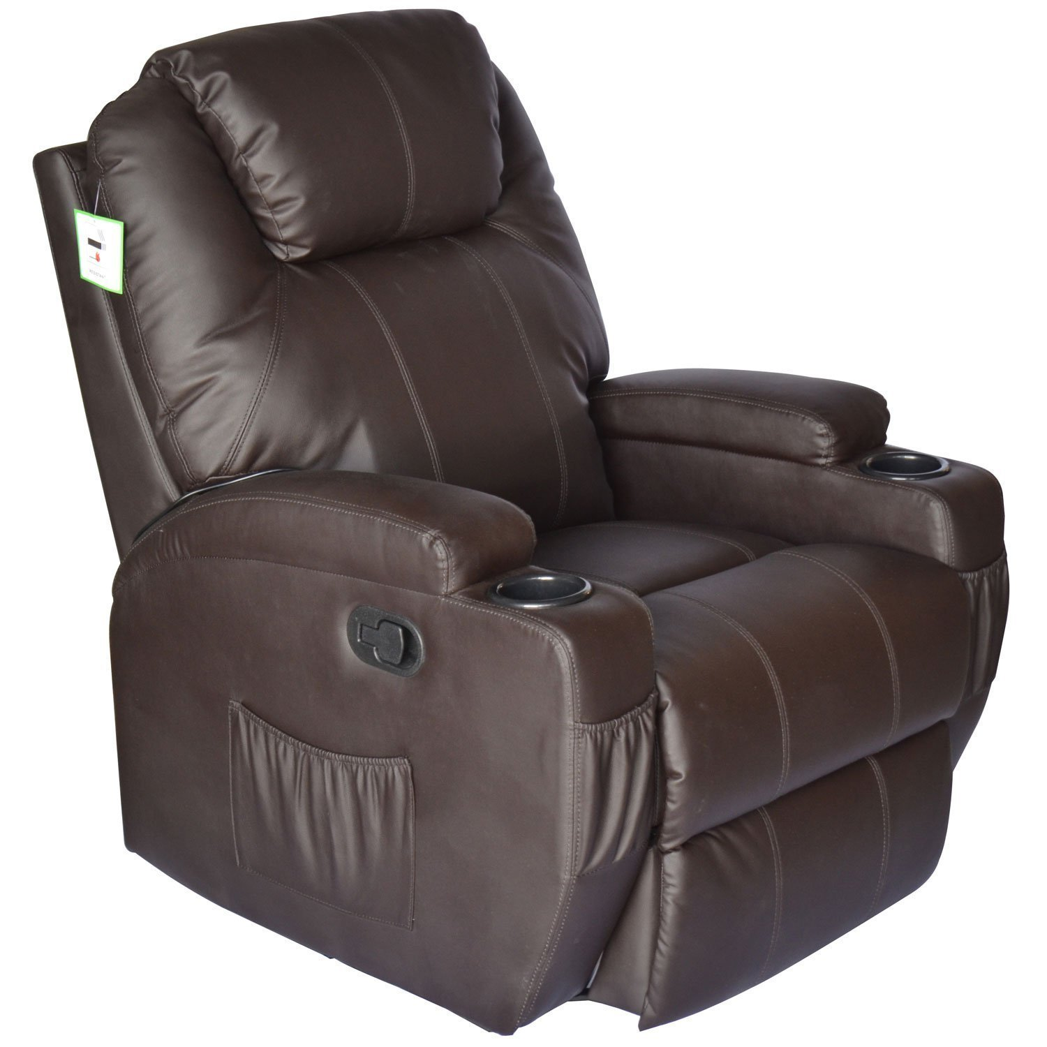 Recliner Massager | Massage Reclining Chair | Stratolounger  sc 1 st  Marc Charles Steakhouse & Furniture u0026 Rug: Reclining Leather Massage Chair | Recliner Parts ... islam-shia.org