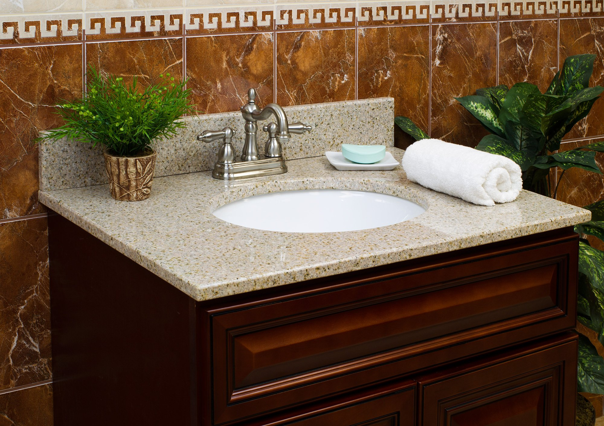Bathroom vanity tops with sink - Ronbow Techstone Ronbow Vanity Tops Ron Bow