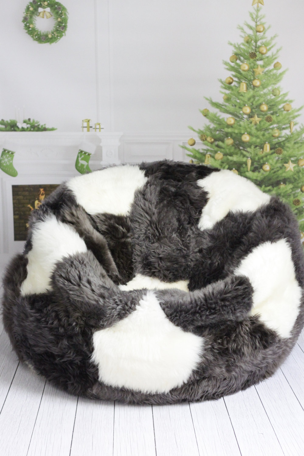 Sheepskin Beanbag | Bean Bag Fur | Structured Bean Bag Chair
