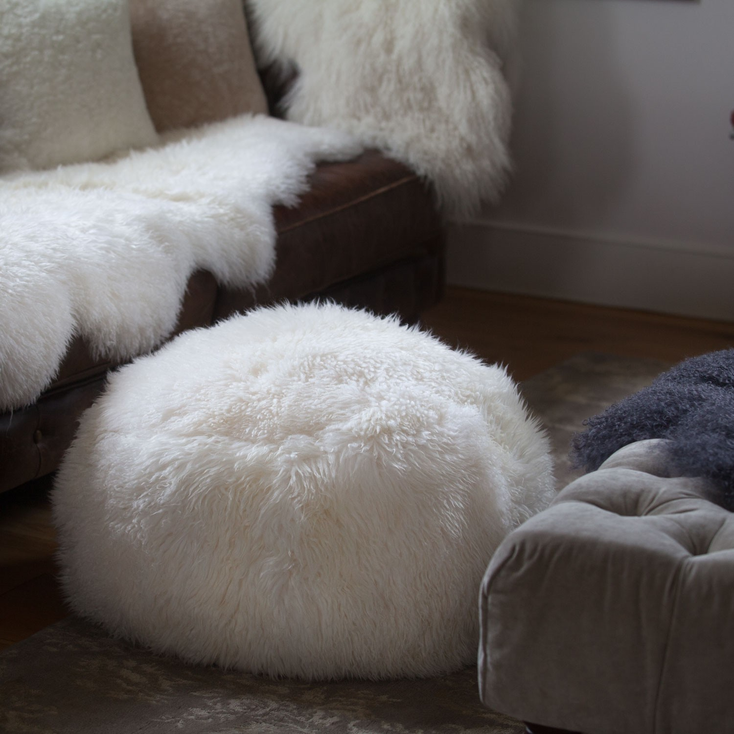 Sheepskin Beanbag | Faux Fur Bean Bags Sale | Jumbo Bean Bag Chair