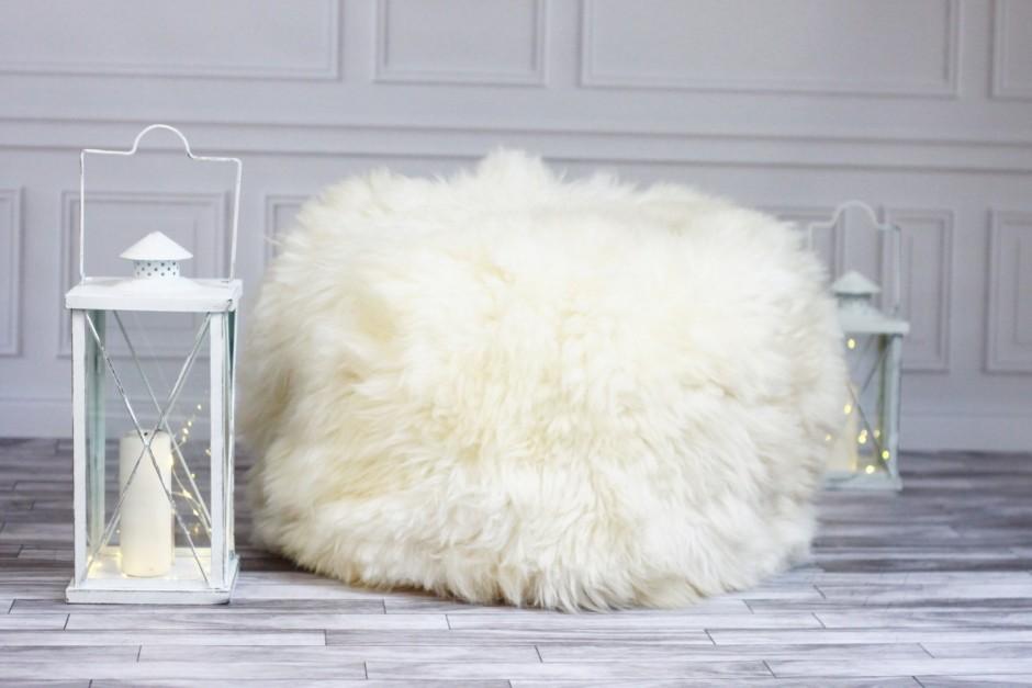 Sheepskin Beanbag | Giant Beanbag Chair | Long Bean Bag Chair