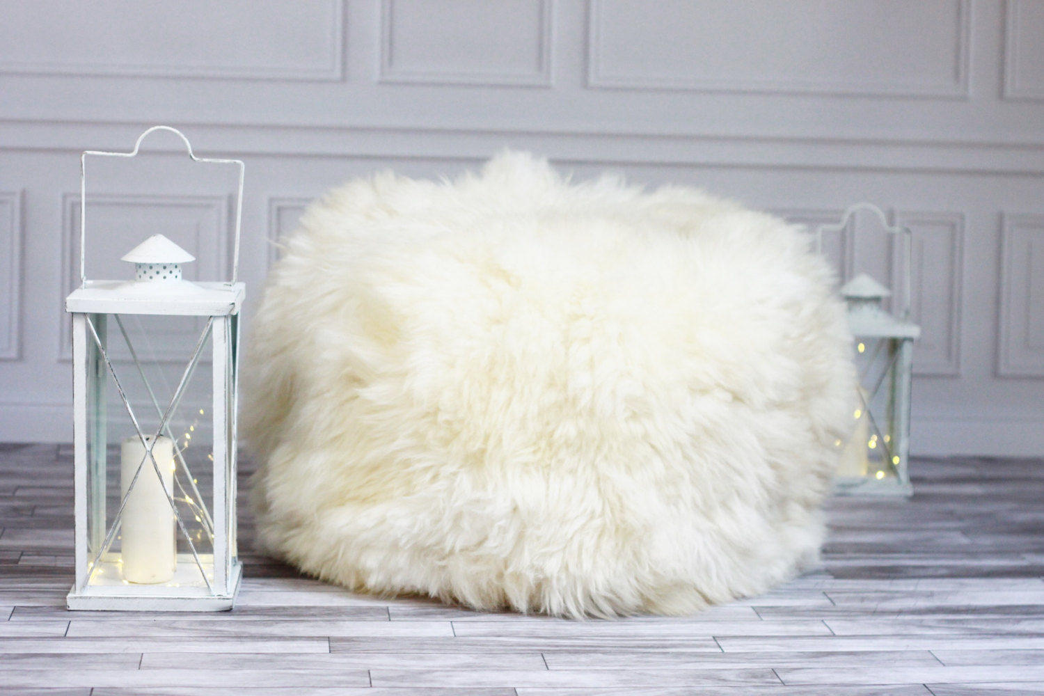 Sheepskin Beanbag | Giant Beanbag Chair | Long Bean Bag Chair