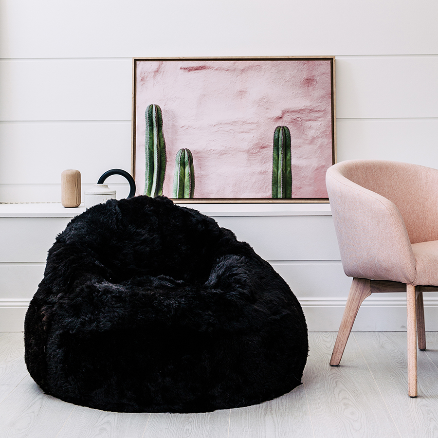 Sheepskin Beanbag | Sherpa Bean Bag | Biggest Bean Bag Ever