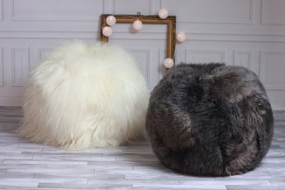 Sherpa Bean Bag | Oversized Bean Bag Furniture | Sheepskin Beanbag