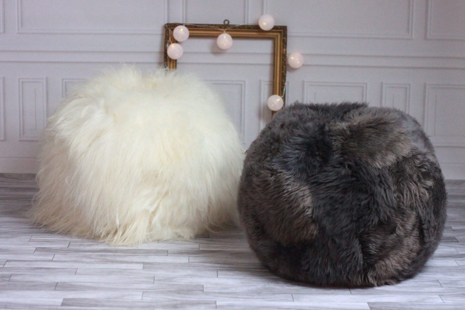 Furniture Rug Sheepskin Beanbag