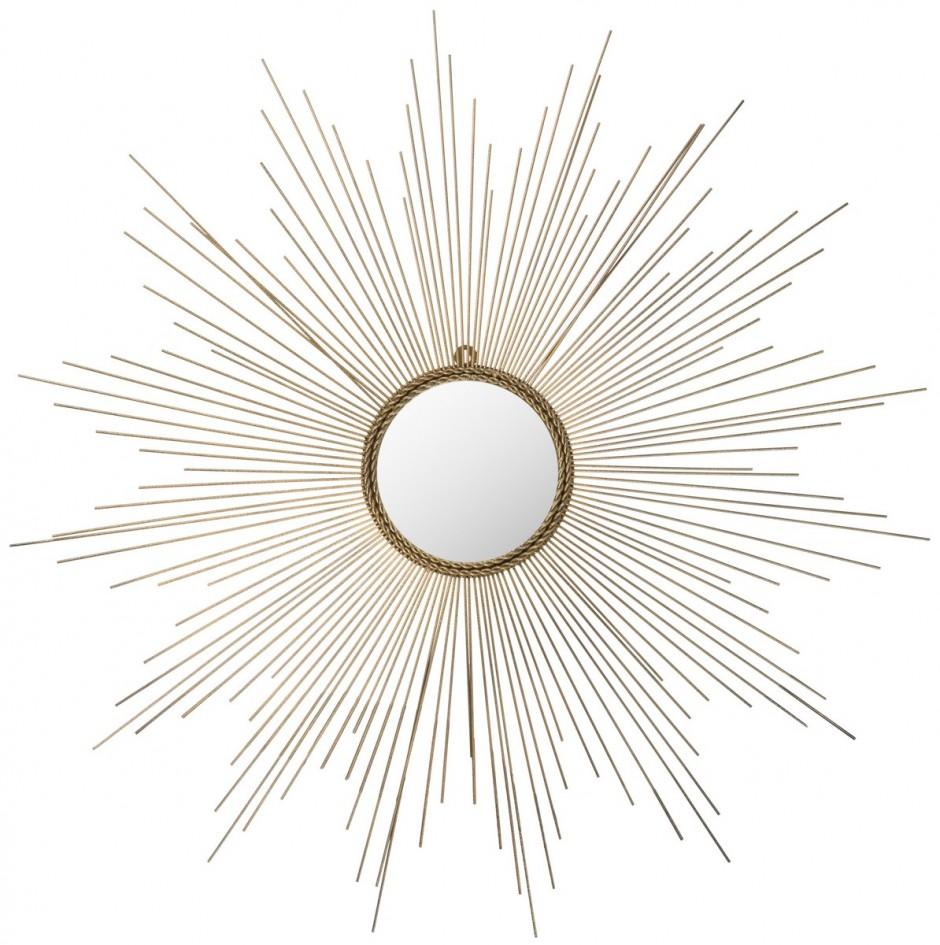 Silver Sunburst Mirror Wall Decor   Martha Stewart Sunburst Mirror   Gold Sun Mirror