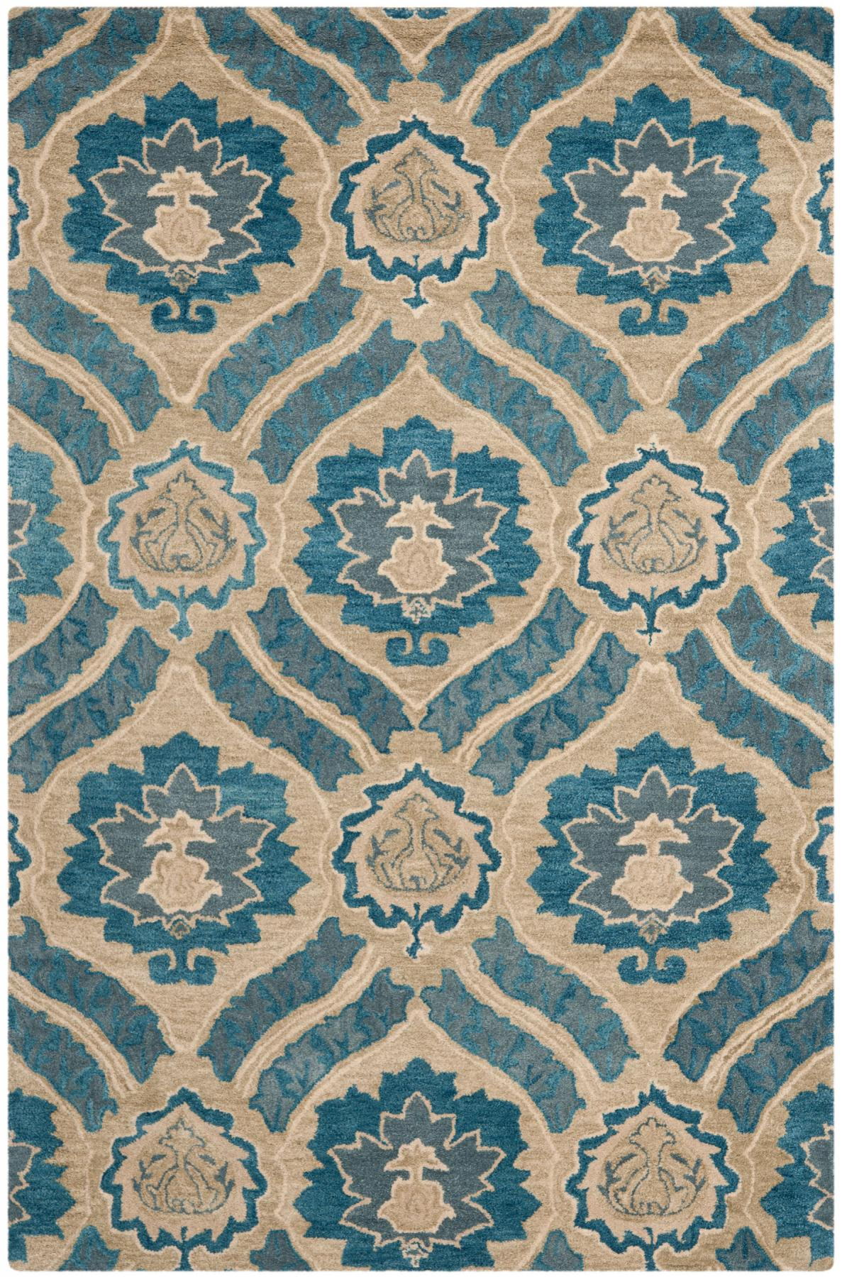 Square Rugs 7x7 | Blue Area Rugs 5x7 | Turquoise Area Rugs