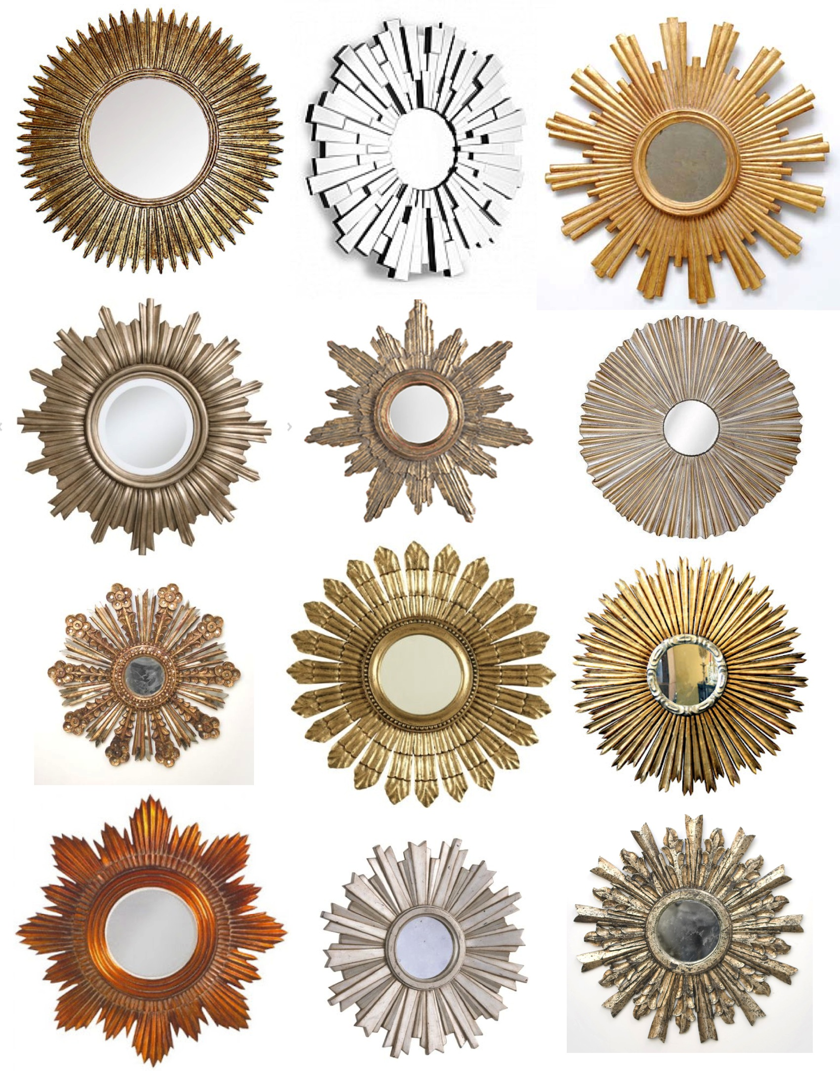Starbust Mirror | Antique Gold Sunburst Mirror | Martha Stewart Sunburst Mirror