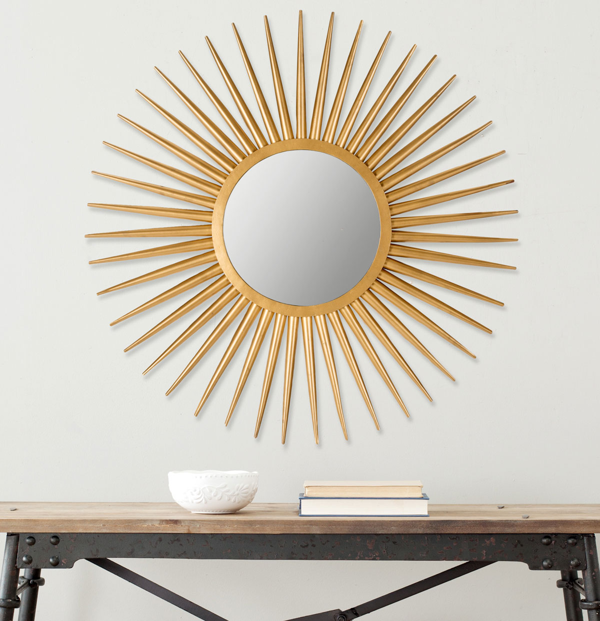 Sunburst Silver Mirror | Home Depot Sunburst Mirror | Martha Stewart Sunburst Mirror