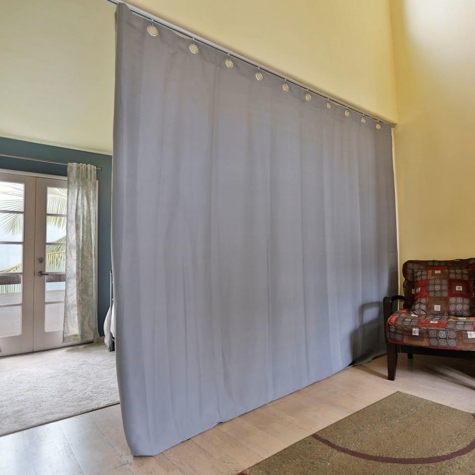 Tension Rod Room Divider | Compression Rod Curtain | Room Divider Curtain Rod