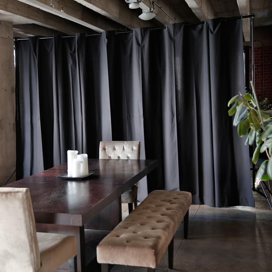 Tension Rod Room Divider | Spring Tension Rods | Pressure Curtain Rods