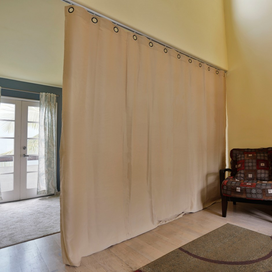 Tension Rod Room Divider | Tension Shower Rods | Compression Rod Curtain