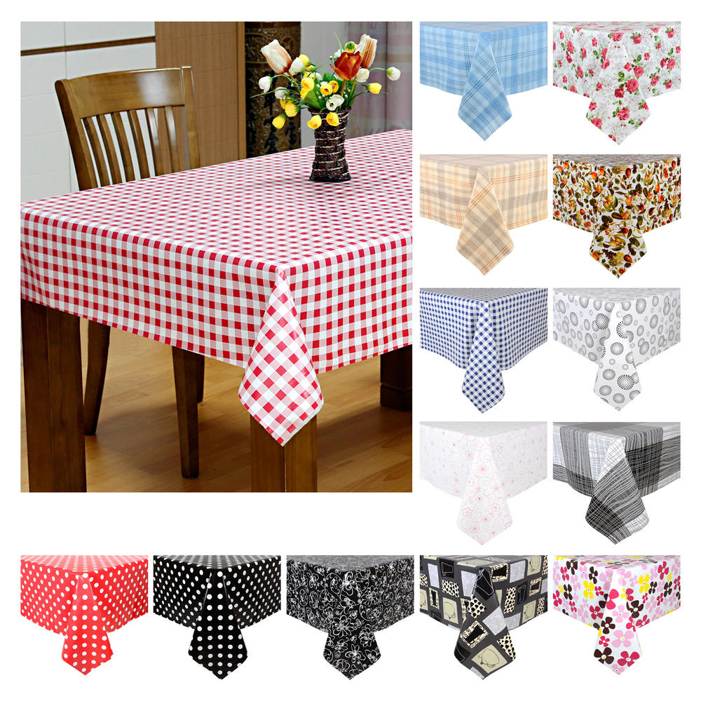 Vinyl Tablecloths | Extra Long Tablecloth | Nice Vinyl Tablecloths