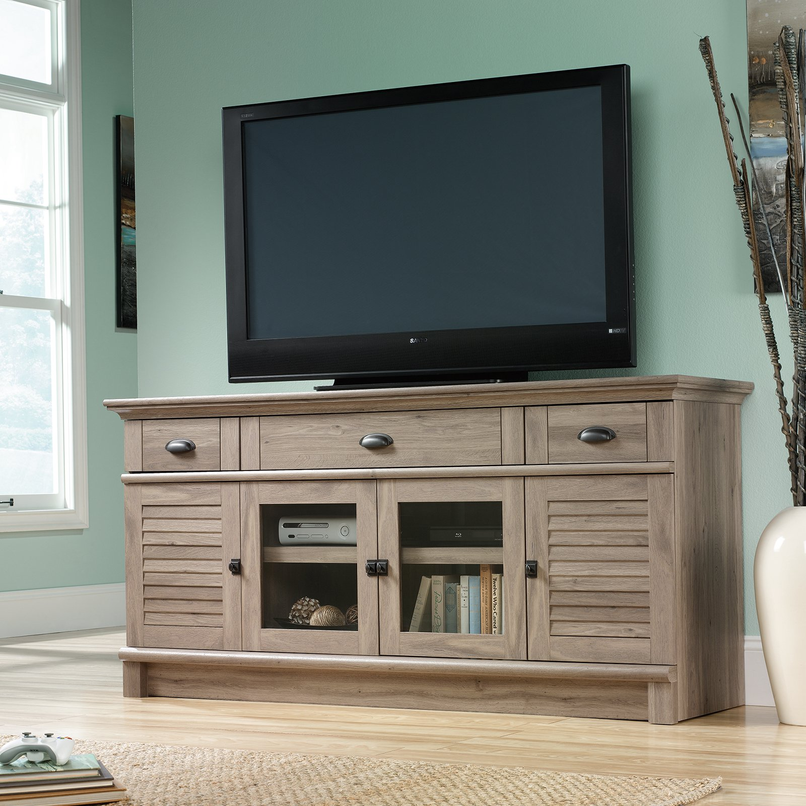 Walmart Sauder Entertainment Center | Sauder Beginnings Tv Stand Cinnamon Cherry | Sauder Tv Stands