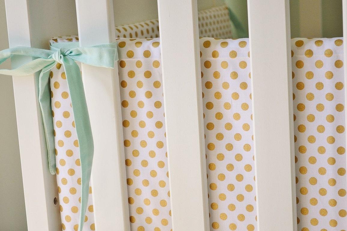 Yellow Mesh Crib Bumper | Crib Mesh Bumper | Crib Bumpers