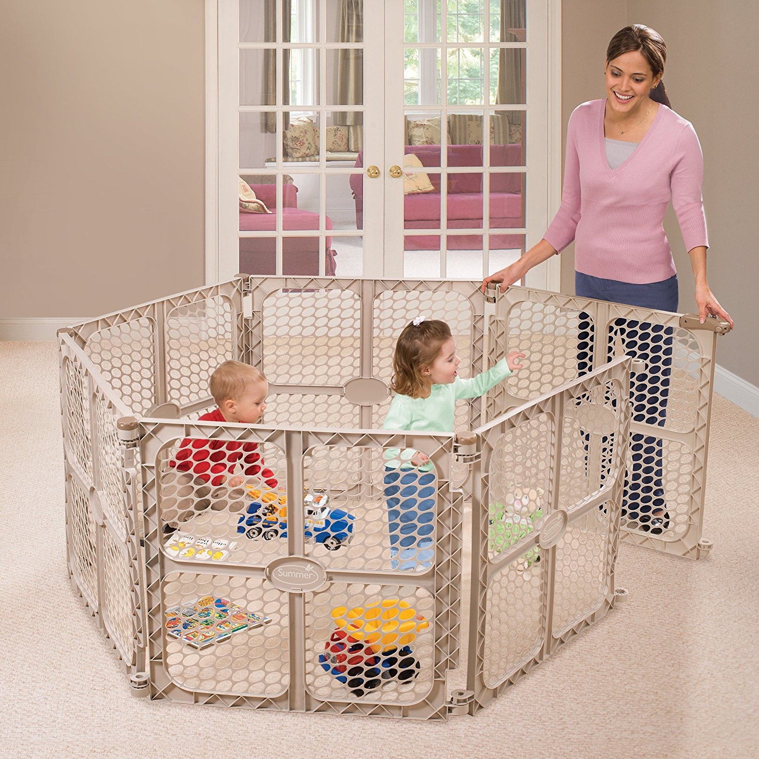 8 Panel Play Yard Gate | North States Superyard | Playyard Walmart